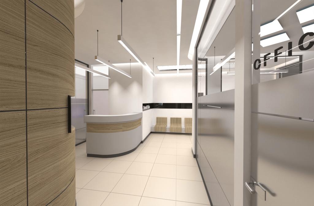 3D рендер приемна на дентална клиника