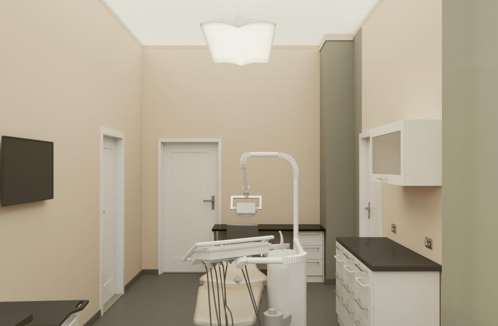 3D визуализация стоматологичен кабинет
