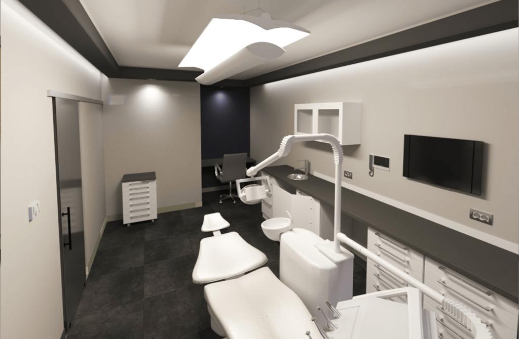 Дентален кабинет в сиво и бяло