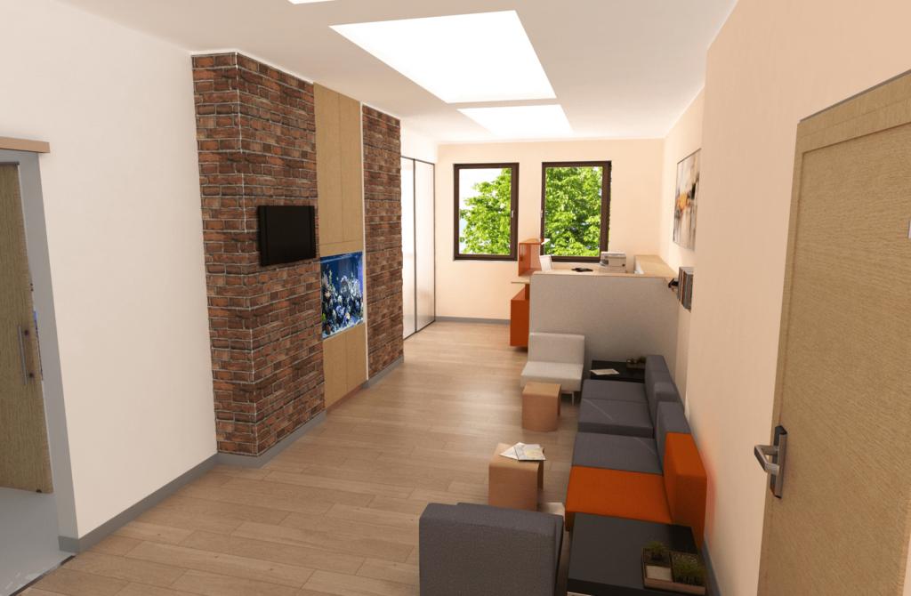 Изглед на приемна в дентална клиника